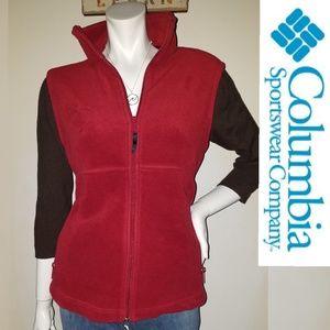 COLUMBIA Women's Fleece Thermal Retention Red VEST